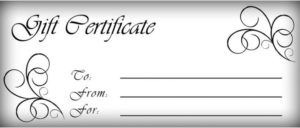 Free Printable Gift Certificate Template   Gift Certificate in Custom Gift Certificate Template