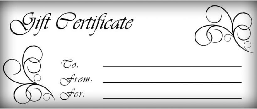 Free Printable Gift Certificate Template   Gift Certificate pertaining to Fillable Gift Certificate Template Free