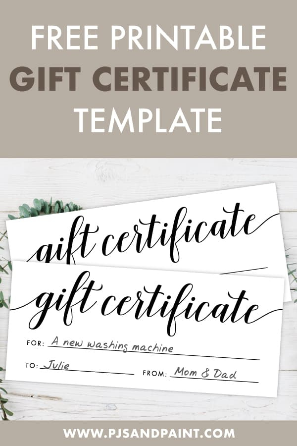 Free Printable Gift Certificate Template - Pjs And Paint with regard to Fresh Printable Gift Certificates Templates Free