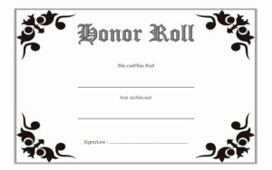 Free Printable Honor Roll Certificates Inspirational intended for Honor Roll Certificate Template Free 7 Ideas