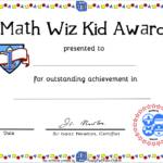 Free Printable Math Certificate Of Achievement | Certificate For Math Award Certificate Templates