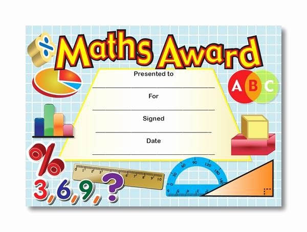 Free Printable Math Certificates Inspirational Certificate intended for Math Award Certificate Templates