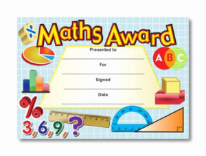 Free Printable Math Certificates Inspirational Certificate with Math Award Certificate Template