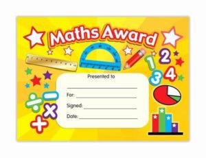 Free Printable Math Certificates Inspirational Maths Award for Math Award Certificate Template