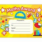 Free Printable Math Certificates Inspirational Maths Award Regarding Math Certificate Template
