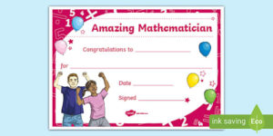 Free! – Printable Maths Certificate (Teacher Made) regarding Fresh Math Certificate Template 7 Excellence Award