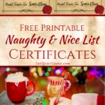 Free Printable Naughty And Nice List Certificates ⋆ The Regarding Free 9 Naughty List Certificate Templates