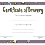 Free Printable Printable Bravery Award Template With Regard To Bravery Award Certificate Templates