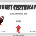 Free Printable Rugby Award Certificate Pertaining To Quality Rugby Certificate Template