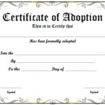 Free Printable Sample Certificate Of Adoption Template Pertaining To Dog Adoption Certificate Template