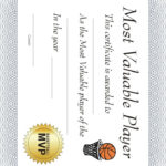 Free Printable Sports Certificate: Basketball Mvp In Unique Basketball Mvp Certificate Template