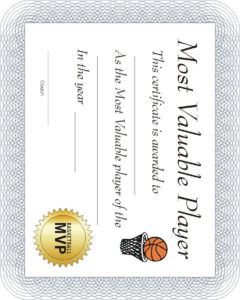 Free Printable Sports Certificate: Basketball Mvp in Unique Download 10 Basketball Mvp Certificate Editable Templates