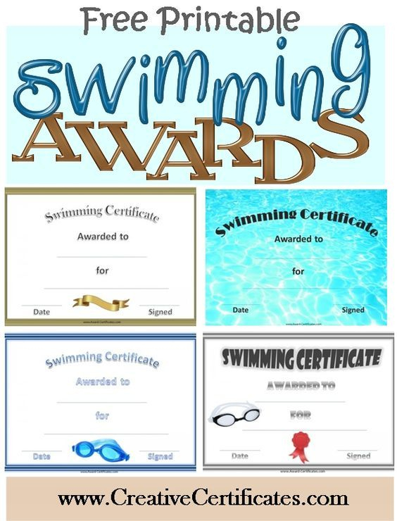 Free Printable Swimming Certificates And Awards | Swimming with Best Editable Swimming Certificate Template Free Ideas