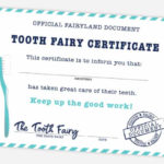 Free Printable Tooth Fairy Certificate, Receipt, Envelope With Regard To Unique Free Tooth Fairy Certificate Template