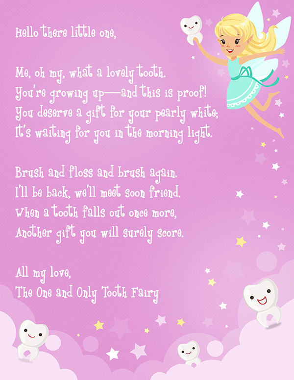 Free Printable Tooth Fairy Letter | Elfster inside Unique Free Tooth Fairy Certificate Template
