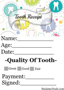 Free Printable Tooth Fairy Letters – Real Advice Gal | Tooth intended for Fresh Tooth Fairy Certificate Template Free