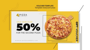 Free Psd | Voucher Template For Pizza Restaurant pertaining to Pizza Gift Certificate Template