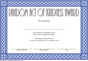 Free Random Acts Of Kindness Certificate Template 2   Two for Fresh Kindness Certificate Template Free