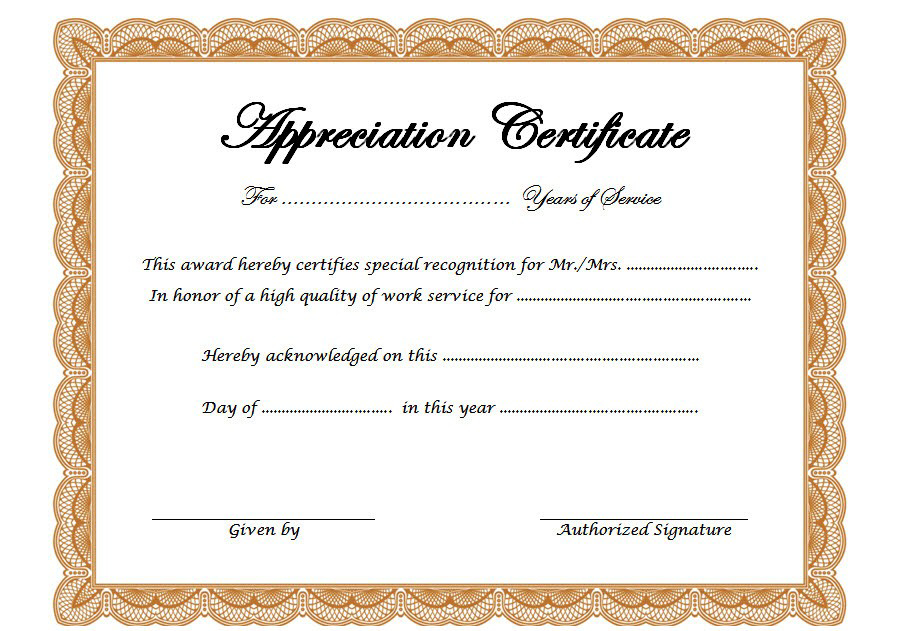 Free Retirement Certificate Of Appreciation Template 2 within Free Retirement Certificate Templates For Word