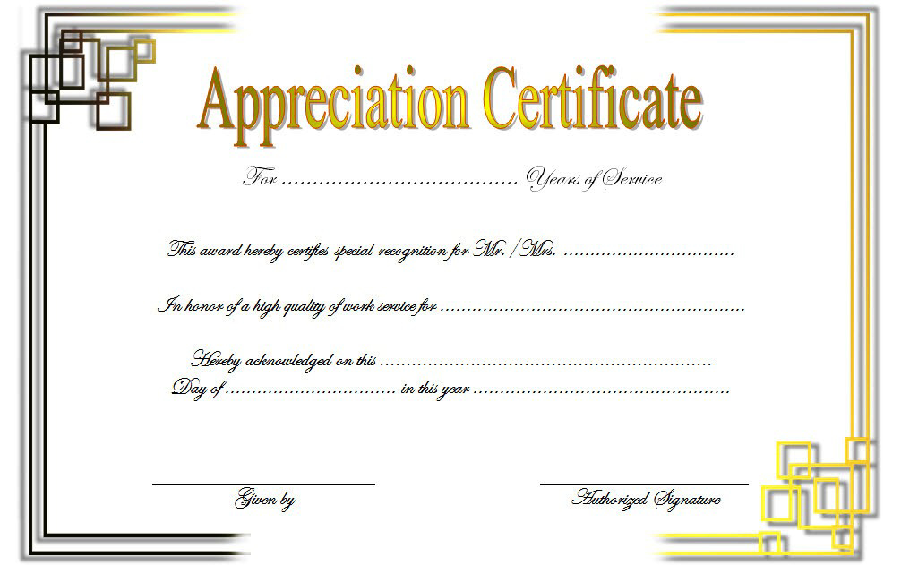 Free Retirement Certificate Of Appreciation Template 3 Within Free Retirement Certificate Templates For Word