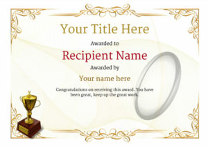 Free Rugby Certificate Templates – Add Printable Badges & Medals in Rugby Certificate Template