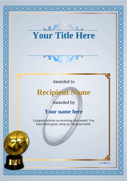 Free Rugby Certificate Templates - Add Printable Badges & Medals pertaining to Fresh Rugby League Certificate Templates