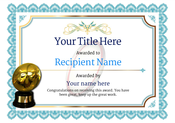 Free Rugby Certificate Templates - Add Printable Badges & Medals regarding Rugby Certificate Template