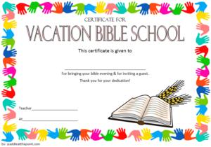 Free School Certificate Templates (1) - Templates Example in Best Free Vbs Certificate Templates