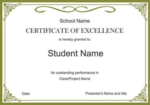 Free School Certificate Templates 5 In 2020 | School inside Certificate Templates For School