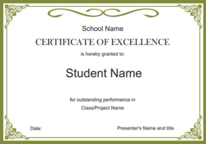 Free School Certificate Templates 5 In 2020 | School with Fresh Hayes Certificate Templates