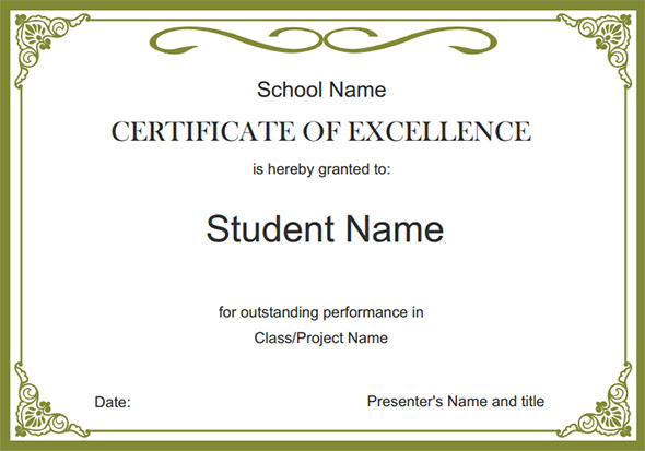 Free School Certificate Templates 5 In 2020 | School with regard to New Free School Certificate Templates