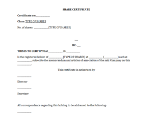 Free Share Certificate Template: All You Need To Know About It regarding Shareholding Certificate Template