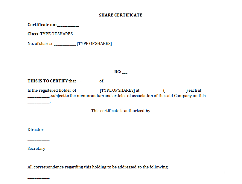 Free Share Certificate Template: All You Need To Know About It with Template Of Share Certificate