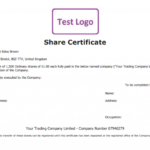 Free Share Certificate Template: Create Perfect Share For Quality Share Certificate Template Companies House
