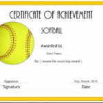 Free Softball Certificate Templates – Customize Online For Softball Award Certificate Template