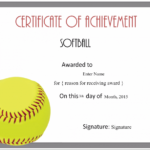 Free Softball Certificate Templates – Customize Online Intended For Softball Certificate Templates