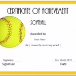 Free Softball Certificate Templates - Customize Online pertaining to Unique Free Softball Certificate Templates