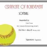 Free Softball Certificate Templates – Customize Online Regarding Unique Softball Certificate Templates Free