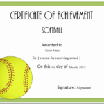 Free Softball Certificate Templates – Customize Online With Best Softball Certificate Templates
