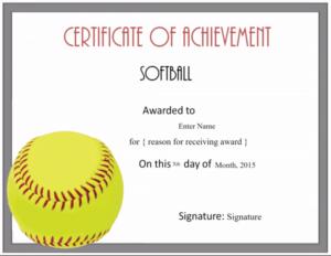 Free Softball Certificate Templates – Customize Online with regard to Softball Award Certificate Template