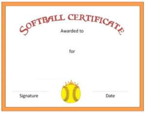Free Softball Certificate Templates – Customize Online within Softball Award Certificate Template