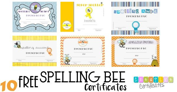 Free Spelling Bee Certificate Templates - Customize Online throughout Spelling Bee Award Certificate Template