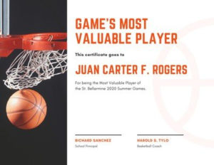 Free Sport Certificates Templates To Customize   Canva regarding Unique Basketball Mvp Certificate Template