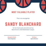 Free Sport Certificates Templates To Customize | Canva With Unique Basketball Mvp Certificate Template