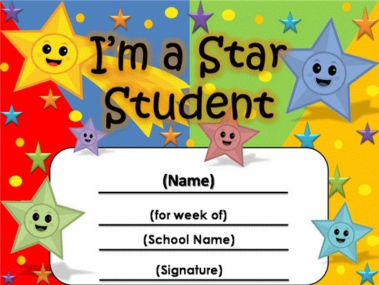 Free Star Awards   Templates Certificates Star Student with Unique Star Student Certificate Templates