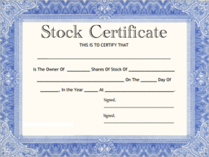 Free Stock Certificate Template Download (3) – Templates pertaining to Best Free Stock Certificate Template Download