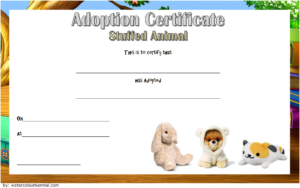 Free Stuffed Animal Adoption Certificate Printable (Zoo within Stuffed Animal Adoption Certificate Editable Templates