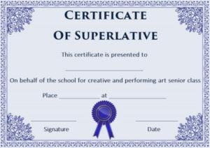 Free Superlative Certificate Templates | Certificate with regard to Superlative Certificate Template