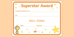Free! – Superstar Award Certificates (Teacher Made) Inside Quality Kindness Certificate Template 7 New Ideas Free