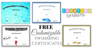 Free Swimming Certificate Templates | Customize Online throughout Swimming Award Certificate Template